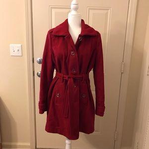 Roz & Ali Jacket•Cranberry•Large•button down•EUC